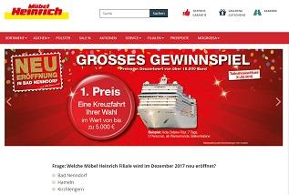 Mobel heinrich gewinnspiel kreuzfahrt gewinnen for M bel heinrich küchen