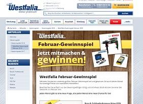 Bosch Schlagbohrmaschine Gewinnspiel, Westfalia Gewinnspiel