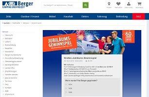 Wohnwagen Gewinnspiel, Berger Gewinnspiel