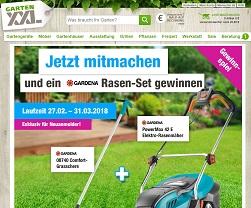 Gardena Elektro-Rasenmäher Gewinnspiel, GartenXXL Gewinnspiel