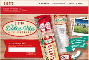 Giotto Code eingeben Gewinnnspiel, Giotto Gewinnnspiel