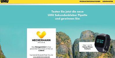 Neckermann Reisegutschein Gewinnspiel, Uhu Gewinnspiel