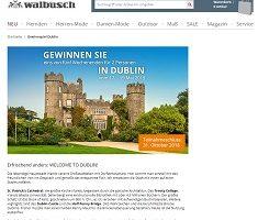 Dublin Wochenende Gewinnspiel, Walbusch Gewinnspiel