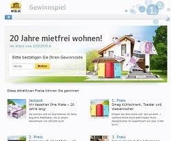 200.000 Miete Gewinnspiel, Web.de Gewinnspiel