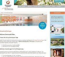 Ostsee Wellness-Urlaub Gewinnspiel, Wellnessfinder Gewinnspiel