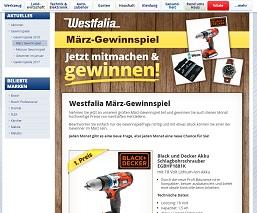 Black und Decker Akku Schlagbohrschrauber Gewinnspiel, Westfalia Gewinnspiel