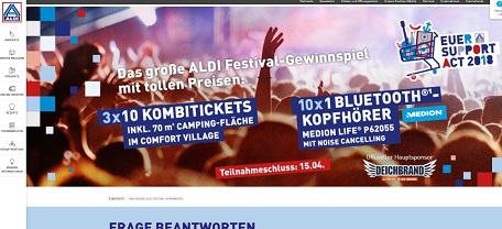 Aldi Nord Festival Gewinnspiel