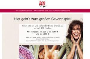 Bonprix 5000 Euro Gewinnspiel, Bonprix Gewinnspiel