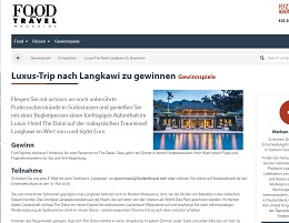 Malaysia Reise Gewinnspiel, Food and Travel Gewinnspiel