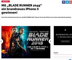 Apple iPhone X Gewinnspiel, GQ Gewinnspiel