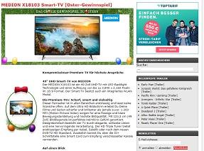 Medion UHD Smart TV Gewinnspiel, KinoNews Gewinnspiel