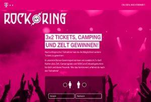 Rock am Ring Gewinnspiel, Telekom Gewinnspiel
