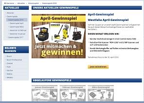 Kärcher Hochdruckreiniger Gewinnspiel, Westfalia Gewinnspiel