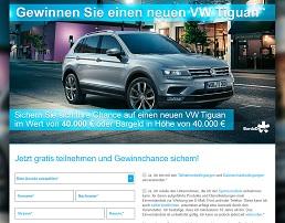 VW Tiguan Gewinnspiel, Burda Gewinnspiel