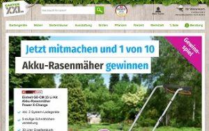 Einhell Akku-Rasenmäher Gewinnspiel, GartenXXL Gewinnspiel