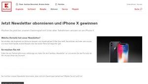 iPhone X Gewinnspiel, Kaufland Gewinnspiel
