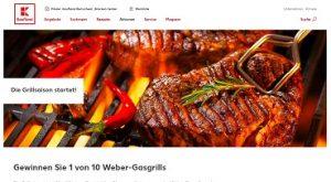 Weber Gasgrill Gewinnspiel, Kaufland Gewinnspiel