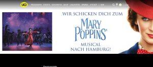 Hamburg Musical Reise Gewinnspiel, UCI Gewinnspiel