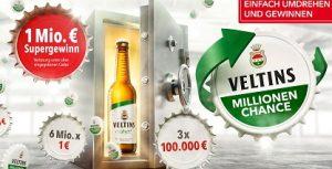Veltins Millionenchance Code eingeben, Veltins Gewinnspiel