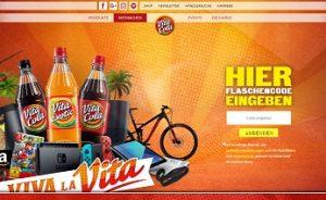 Vita Cola Flaschencode eingeben, Vita Cola Gewinnspiel