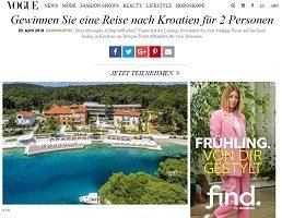 Kroatien Reise Gewinnspiel, Vogue Gewinnspiel