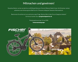 Fischer E-Bike Gewinnspiel, Weintor Gewinnspiel
