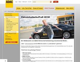 ADAC Fahrsicherheits-Profi Gewinnspiel, ADAC Gewinnspiel