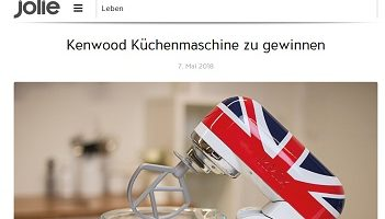 Kenwood Küchenmaschine Gewinnspiel, Jolie Gewinnspiel