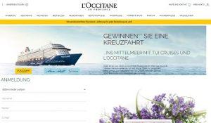 Mittelmeer Kreuzfahrt Gewinnspiel, L'Occitane Gewinnspiel
