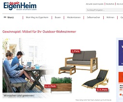 Gardanio Outdoor-Möbel Gewinnspiel, Mein Eigenheim Gewinnspiel