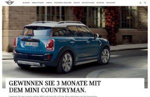 Mini Countryman Gewinnspiel, Mini Gewinnspiel