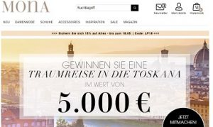 Mona Toskana Reise Gewinnspiel, Mona Gewinnspiel
