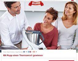 Thermomix Gewinnspiel, Rupp Gewinnspiel