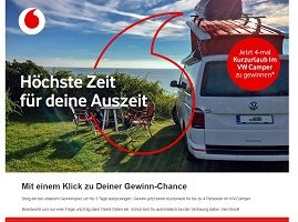 VW Campster Urlaub Gewinnspiel, Vodafone Gewinnspiel
