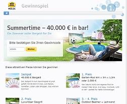 40000 Euro Gewinnspiel, Web.de Gewinnspiel
