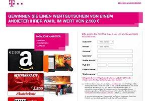 2500 Euro Amazon Gutschein Gewinnspiel