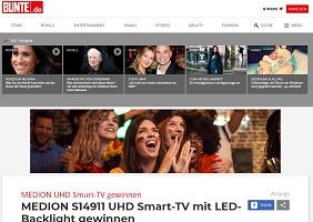 Medion UHD Smart TV Gewinnspiel, Bunte Gewinnspiel