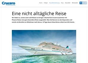 Mittelmeer Atlantik Kreuzfahrt Gewinnspiel, Crucero Gewinnspiel