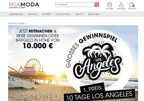 MiaModa Los Angeles Gewinnspiel. MiaModa Gewinnspiel