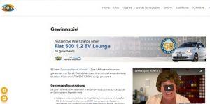 Fiat 500 Gewinnspiel, RON TV Gewinnspiel