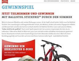 Ballistol Stichfrei E-Bike Gewinnspiel, Ballistol Gewinnspiel