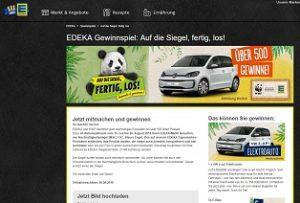 VW E-Up Gewinnspiel, Edeka Gewinnspiel
