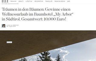 Südtirol Luxus Reise Gewinnspiel, Elle Gewinnspiel