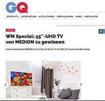 Medion UHD Smart TV Gewinnspiel, GQ Gewinnspiel