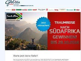 Südafrika Reise Gewinnspiel, Globista Gewinnspiel