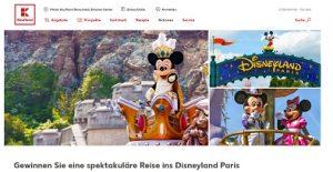 Disneyland Paris Reise Gewinnspiel, Kaufland Gewinnspiel