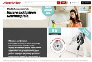 MediaMarkt Staubsauger und Reiniger Gewinnspiel, MediaMarkt Gewinnspiel