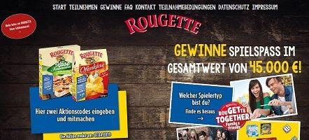 Rougette Code eingeben, Rougette Gewinnspiel