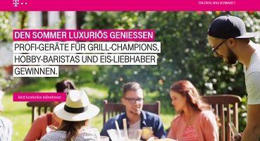 Telekom Sommerfete Gewinnspiel, Telekom Gewinnspiel