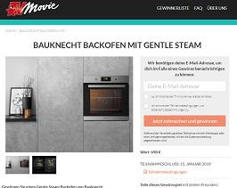 Bauknecht Gewinnspiel, TV Movie Gewinnspiel